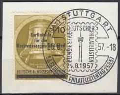 BERLIN  MiNr. 155 PF IIII, Gestempelt Auf Briefstück, Hochwassergeschädigtenhilfe, 1956 - Used Stamps