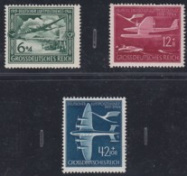 DR   866-868, Postfrisch **, 25 Jahre Luftpost, 1944 - Neufs