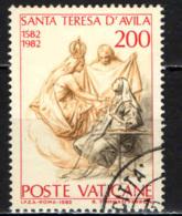 VATICANO - 1982 - S. TERESA D'AVILA - LA MADONNA E SAN GIUSEPPE - VISIONE DELLA SANTA - USATO - Vaticano (Ciudad Del)