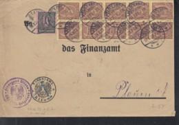 INFLA DR Dienst 22x 33 C, 68 A MiF, Geprüft, Brief Mit Stempel: Helgoland 14.3.1923, Portogerecht -100g - Germany