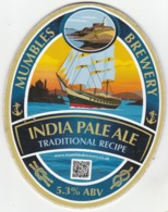 MUMBLES BREWERY (SWANSEA, WALES) - INDIA PALE ALE - PUMP CLIP FRONT - Letreros