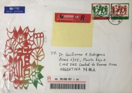 ◆◆◆CHINA 2003  REGISTERED AIR MAIL TO  Argentina  ++++ - 1949 - ... République Populaire