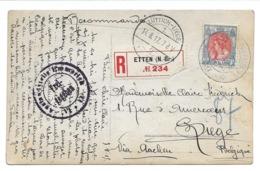 Pays-Bas Nederland Guerre 14  Recommandé 1917  Etten Liège Via Aachen  Censure Femmes Costumes Traditionnels Photo Carte - Periodo 1891 – 1948 (Wilhelmina)