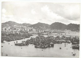 W5436 Hong Kong - A View Of The Bay - Barche Boats Bateaux / Viaggiata 1964 - Cina (Hong Kong)