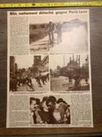 1932 1933 M BLIN GAGNE PARIS LENS CYCLISME PASSAGE A NIVEAU HENIN LIETARD DOULLENS - Vieux Papiers