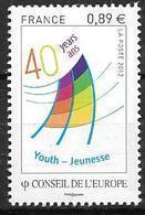 France 2012 Service N° 153 Neuf Conseil De L'Europe à La Faciale - Service
