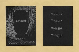 Carte Parfumée Perfume Card INVICTUS * PACO RABANNE * R/V * UK - Modernas (desde 1961)