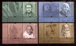 Moldova 2019 Louis Braille - Albert Einstein - Mahatma Gandhi - Leonardo Da Vinci 4v**MNH + 4 Labels - Moldavia