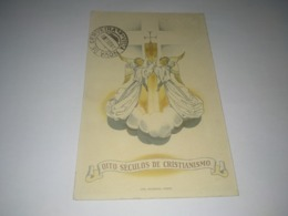 "Postcard Portuguese, Postal Portugal ""Correio De Portugal, Boas Festas, Oito Séculos De Cristianismo"" - Sonstige"