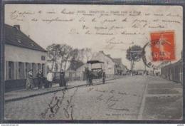 Carte Postale 59. Hasnon Route Vers Le Pont  Trés Beau Plan - France
