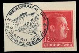 DEUTSCHES REICH 1938 Nr 664 Zentrisch Gestempelt Briefstück X8B0176 - Duitsland