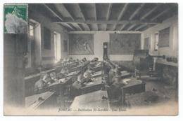 JONZAC ( 17 - Charente Maritime ) - Institution Saint Gervais - Une Etude ( Animée , Eléves ) - TTB Etat - Jonzac
