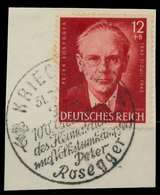 DEUTSCHES REICH 1943 Nr 856 Zentrisch Gestempelt Briefstück X8B037E - Duitsland