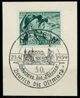 DEUTSCHES REICH 1938 Nr 684y Zentrisch Gestempelt Briefstück X8B0432 - Duitsland