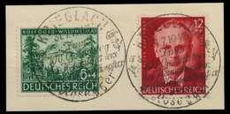 DEUTSCHES REICH 1943 Nr 855-856 Zentrisch Gestempelt Briefstück X8B0472 - Duitsland