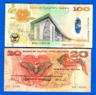 Papouasie  Nouv  Guinée 2  Billets - Papua Nueva Guinea