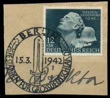 DEUTSCHES REICH 1942 Nr 812 Zentrisch Gestempelt Briefstück X8B5232 - Duitsland