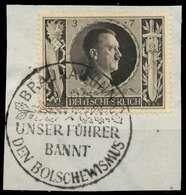 DEUTSCHES REICH 1943 Nr 844 Zentrisch Gestempelt Briefstück X8B526E - Duitsland