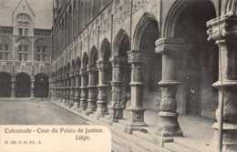 BELGIQUE , Cpa LIEGE , Colonnade , Cour Du Palais De Justice , N.120 .G.H Ed , A (11210) - Liege