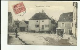 70 - Haute Saone - Bucey Les Gy - La Place - Attelage De Boeufs - Animée - - France