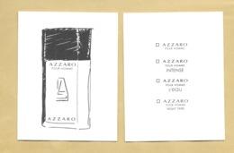 Carte Parfumée Perfume Card AZZARO POUR HOMME * AZZARO * ASIE * R/V - Modernas (desde 1961)