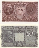 ITALY-LOTTO 5,10 LIRE -UNC-FDS-COPY-RIPRODUZIONE - Collezioni