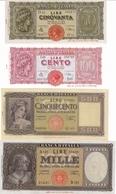 ITALY-50,100,500 1000 LIRE -UNC-FDS-COPY-RIPRODUZIONE - [ 1] …-1946 : Koninkrijk