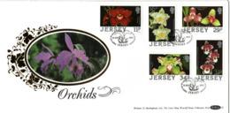 FDC  JERSEY,    Orchid   /    L'orchidée, Lettre De Première Jour,   1988 - Orchideen