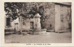 11 Aude Bages La Fontaine Et La Place - Other Municipalities