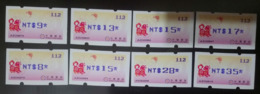 Blue Imprint Set ATM Frama Stamp-2018 Year Auspicious Dog Chinese New Year Bat Unusual - Chinese New Year