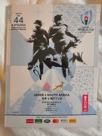 Rugby World Cup Japan 2019. Official Program JAPAN-SOUTH AFRICA 116 Luxurious Color Pages English &Japanese - Rugby