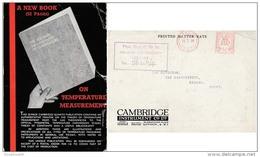 GBS18502 GB 1936 P.T.P.O. Advertising Photo Postcard Cambridge Co. - Meter Cancellation - To Egypt - Poststempel - Freistempel