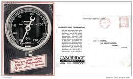 GBS18504 GB 1930 P.T.P.O. Advertising Photo Postcard Cambridge Co. - Meter Cancellation - To Egypt - Poststempel - Freistempel