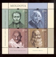 Moldova 2019 Louis Braille - Albert Einstein - Mahatma Gandhi - Leonardo Da Vinci S/s**MNH - Moldavia