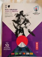 Rugby World Cup Japan 2019. Official Program FIJI-URUGUAY, Play In Kamaishi, 116 Luxurious Color Pages English &Japanese - Rugby