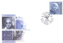 2019. Moldova,  Albert Einshein, People Who Changed The History Of The World, FDC, Mint/** - Moldavie