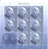 2019. Moldova,  Albert Einshein, People Who Changed The History Of The World, Sheetlet, Mint/** - Moldavie