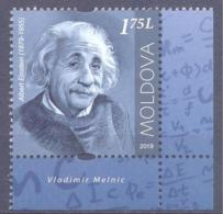 2019. Moldova,  Albert Einshein, People Who Changed The History Of The World, 1v, Mint/** - Moldavie