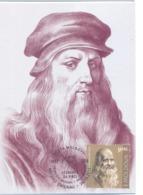 2019. Moldova,  Leonardo Da Vinci, People Who Changed The History Of The World, Maxicard, Mint/** - Moldavia