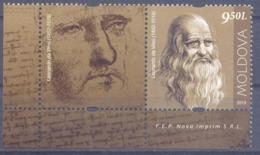 2019. Moldova,  Leonardo Da Vinci, People Who Changed The History Of The World, 1v With Label, Mint/** - Moldavie