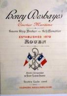 76 ROUEN HENRY DESHAYES COURTIER MARITIME MEMBRE DU YACHT CLUB DE FRANCE   CARTE COMMERCIALE VERS 1890 - 1800 – 1899