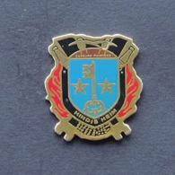 1 Pin's Sapeurs Pompiers De HINDISHEIM (BAS RHIN - 67) - Bomberos