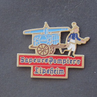 1 Pin's Sapeurs Pompiers De LIPSHEIM (BAS RHIN - 67) - Bomberos