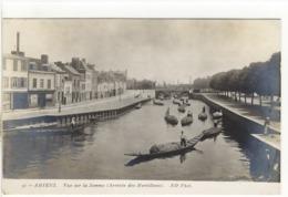 Carte Postale Ancienne Amiens - Vue Sur La Somme. Arrivée Des Hortillons - Amiens