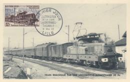 Carte  Maximum  1er  Jour    FRANCE   Electrification  Ferroviaire   LILLE   1955 - 1950-59