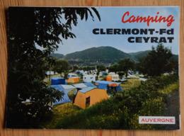 Camping Clermont-Ferrand - Ceyrat - Dépliant Touristique Avec Illustrations : Tentes - Caravanes - Voitures... (n°16452) - Folletos Turísticos