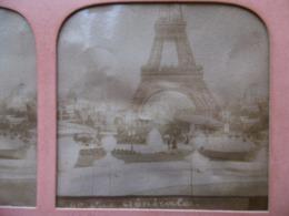 TOUR EFFEIL EXPOSITION UNIVERSELLE 1889 PHOTO STEREO - Photos Stéréoscopiques