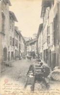 Romans-sur-Isère - Rue Bistour (tanneurs Et Tanneuses, Lavage Des Peaux) - Carte A.B. & Cie, Dos Simple - Romans Sur Isere