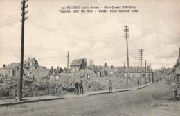 08 Vouziers La Place Carnot Coté Sud Ruines Guerre 1914 1918 - Vouziers
