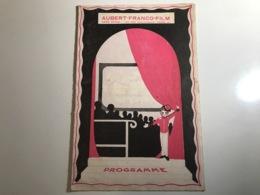 Programme AUBERT FRANCO FILM Scene De LYON - 1930 - Programmi